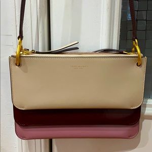 💕Tory Burch patent leather clutch shoulder bag💕